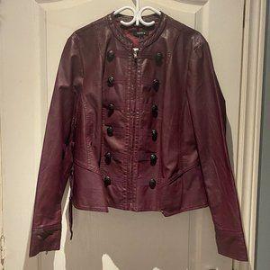 Torrid Burgundy Leather Jacket